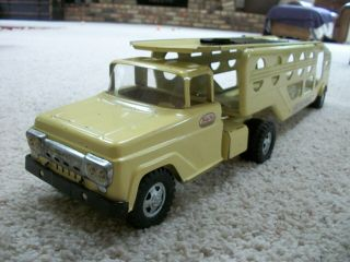 1959 Tonka Car Carrier Rare To Find With Ramp Very Good Toy.  First Year