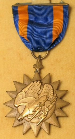Wwii Us Navy Reserves Boxed Air Medal Award Dated 1945 Named Usn Usa