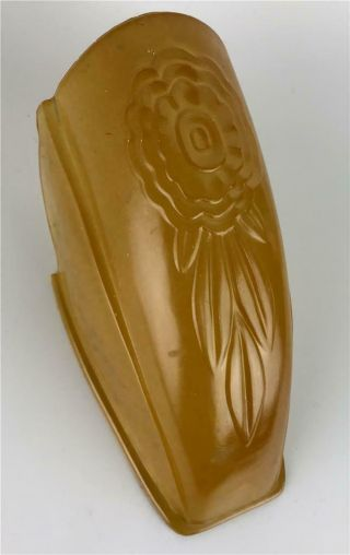 Puritan Art Deco Amber Feather Frosted Glass Slip On Replacement Shade - 8 Avail