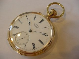 1887 Rare 18k Solid Gold A.  Lange Dresden Als Top Grade A1 Books $8,  000.  00 Wow