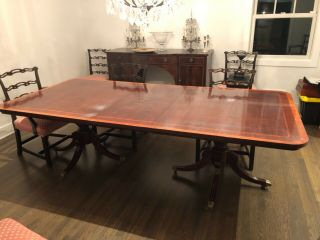 Mahogany Dining Room table with two leaves,  seats 12 2