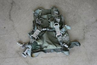 Vintage Us Military Parachute Harness Marked J - 22