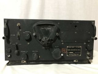Wwii Signal Corps Us Army Radio Receiver Bc 348 - L Dated 1942