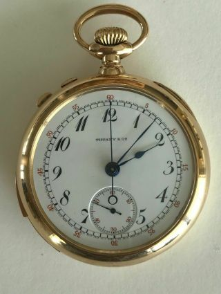 Patek 18k Gold Split Second Pocket Watch