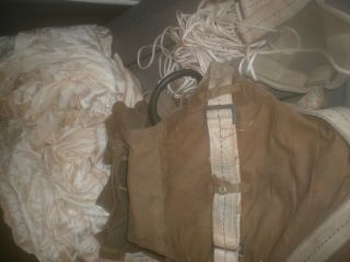 Ww2 U.  S Army Air Force Military Dated 1942 Parachute And Harness World War