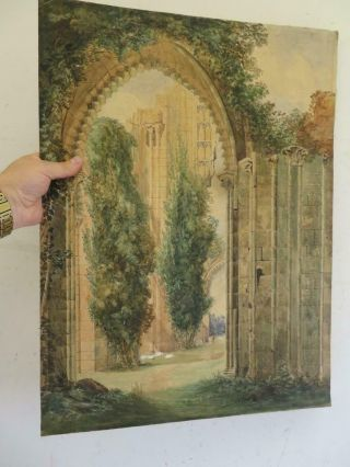 Really Old Painting Antique Ruin Archway