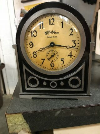 Antique Vintage Old Kentucky Home G M B H Germany Chime Alarm Clock