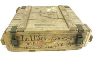 Vintage 1975 Romanian Wooden Ammo Box For 8mm Masuer Cartridge Marked