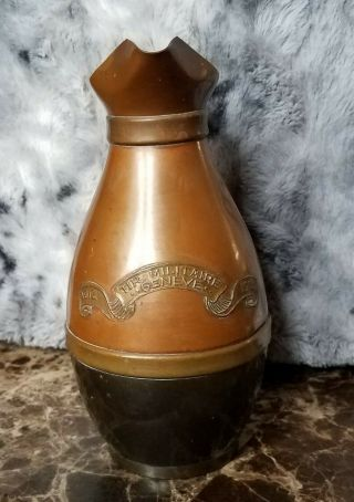 Rare Antique 1914 Swiss Army Military Shooting Pitcher Prize/trophy