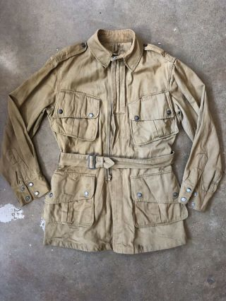Wwii Us Airborne Paratrooper Jump Jacket Named Stamped Size 36r