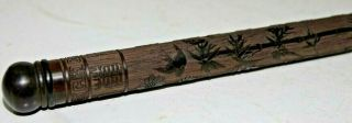 Very Finely Carved Chinese Incense Stick Holder With Character Marks - Very Rare
