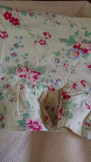 Sweet Antique French 1930s Printed Cotton Valence Portiere Pelmet