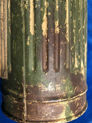 RARE WW2 GERMAN CAMOUFLAGE GAS MASK CANISTER w LABEL - VET PURCHASE 10