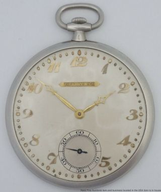 Audemars Piguet Tiffany Platinum 19j Art Deco Vintage Pocket Watch
