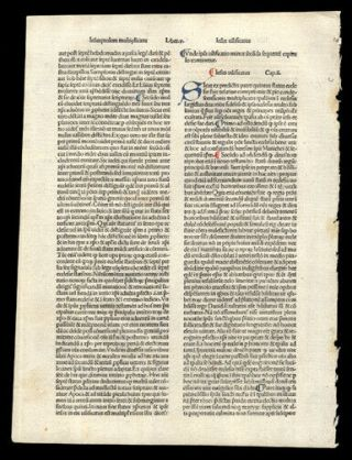 1485 Rare Incunable Leaf Hand - Colored Letters The Passion Of Christ Our Lord