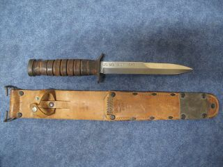 Outstanding Us Ww2 Dated 1943 Kinfolks M3 Knife With M6 Scabbard