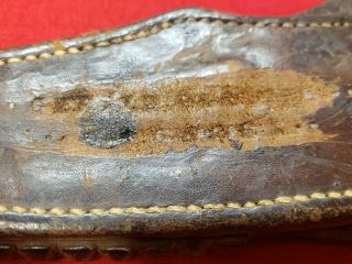 RARE Early Issue Nichols WW2 Fighting Knife With Scabbard 2