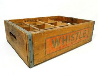 Rare Whistle (orange Soda) Vess Soda,  St.  Louis Mo Vint 12 Bottle Wood Box Crate