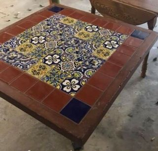 Vintage Chili's Southwest Restaurant Tiled Top Table All •pickup @30078