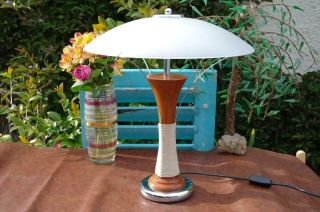Vintage Italian Art Deco Revival Table Lamp By Af - Cinquanta 80s Modernist Design