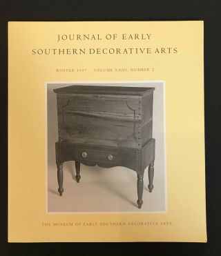 Sugar Chests In Middle Tennessee And Central Kentucky,  1800 - 1835
