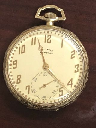 14k Solid Gold Antique Pocket Watch - Illinois Watch Co Great Fathers Day Gift