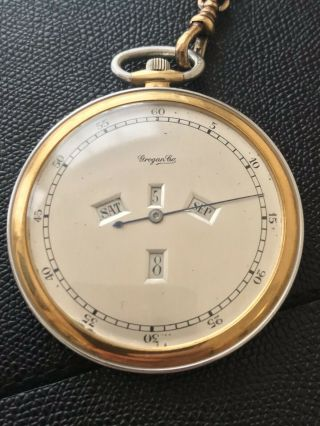Vintage Grogan & Co Pocket Watch Verger 18 Jewels Casy Movement