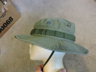 Vintage Vietnam Era Military Army Jungle Boonie Hat Mens Size 7 1/4 Summer Sun