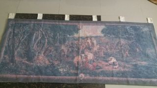 "Antique 19c Aubusson French Tapestry Color Size 33 "" X78"