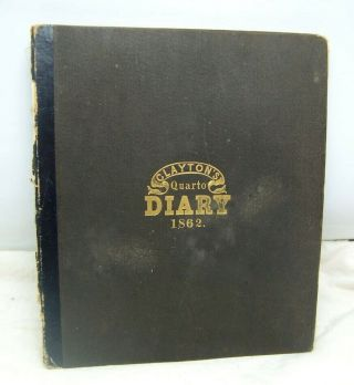 1862 Civil War Diary Of Southern Lawyer In Occupied Alexandria Virginia
