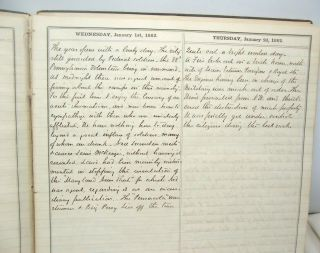 1862 Civil War Diary of Southern Lawyer in Occupied Alexandria Virginia 2