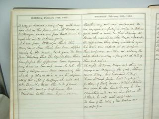 1862 Civil War Diary of Southern Lawyer in Occupied Alexandria Virginia 3