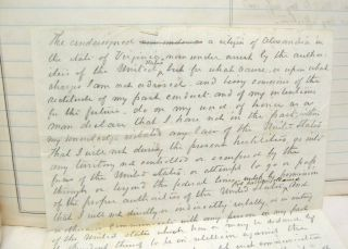 1862 Civil War Diary of Southern Lawyer in Occupied Alexandria Virginia 5