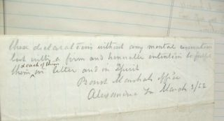 1862 Civil War Diary of Southern Lawyer in Occupied Alexandria Virginia 6