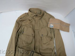 Us Wwii Us Airborne Paratrooper Jump Jacket Size 40r & Overseas Cap Hat