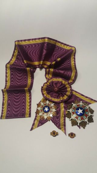 China Order Of The Brilliant Star 2nd Class Grand Cross,  Set.