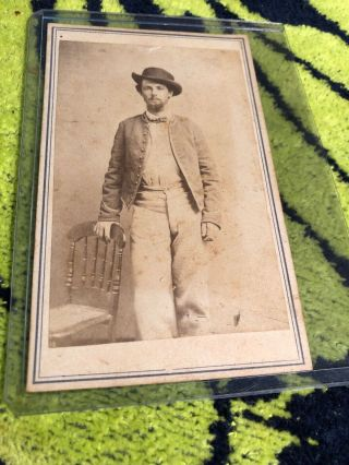 Civil War Soldier Cdv Photograph