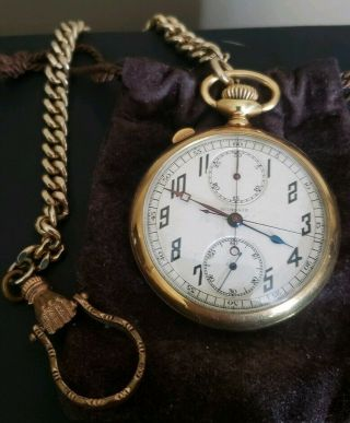 Agassiz Split Second Chronograph Pocket Watch