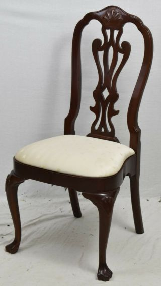 Councill Philadelphia Queen Anne Style Mahogany Dining Chair Williamsburg Style