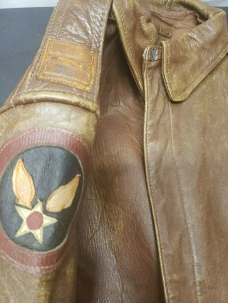WWII A - 2 Jacket with Insignia CBI 4