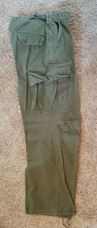 Viet Nam 1968 Poplin Rip Stop Jungle Trousers Og - 107 Regular Medium Size