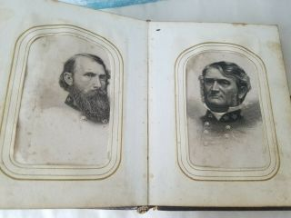 Civil War Photo Album,  Gererals,  Tin Types,  Tom Thumb Family Lincoln Family
