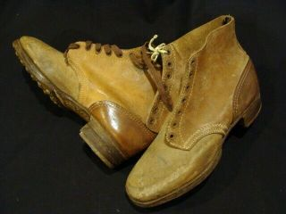 100 German Wh Ww2 Rare Untouched & Never Issued Combat Ankle Boots,  Perfect
