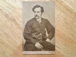Rare Old Vintage Antique John Wilkes Booth Photograph Lincoln Assassin Cdv Photo