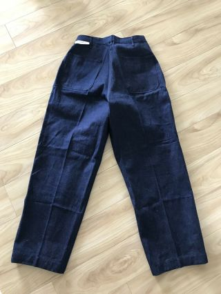 Deadstock Vtg 1940s Ww2 Wwii Us Navy Denim Dungarees Nos 32 Pants Jeans Military