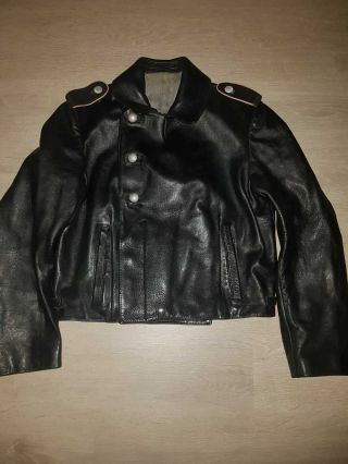 Ww2 Panzer Leather Wrap Jacket In Contion