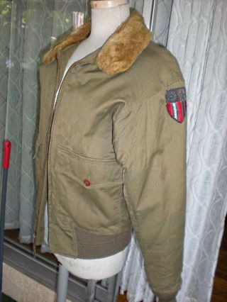 Army Air Forces,  B - 10 Rare Flight Jacket Size 36 Stagg Coat Co Cbi/af