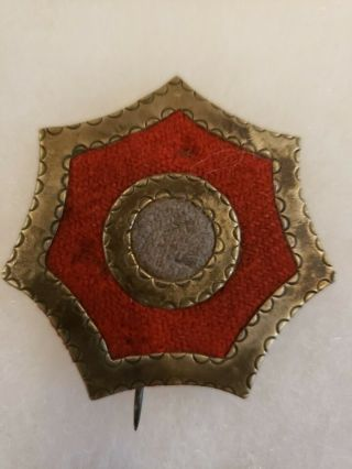 Rare Large Civil War Hancocks Badge Of The First Veteran Army Corps Red