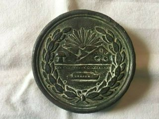 Ultra Rare Civil War Ohio State Seal Breastplate Perryville,  Kentucky Buckle