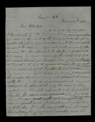 85th York Infantry Civil War Letter From Newbern,  North Carolina Find
